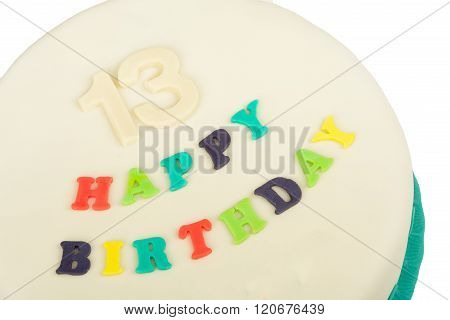 Birthday Cake With Text Happy Birthday