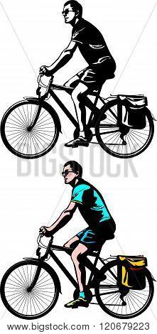 cyclist riding