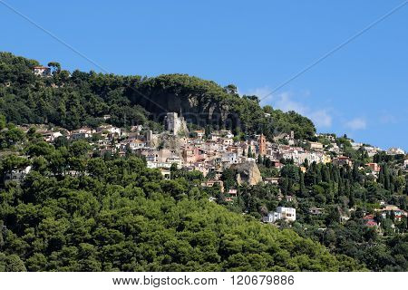 Medieval Castle On Mountain Top