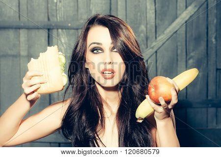 Girl And Food