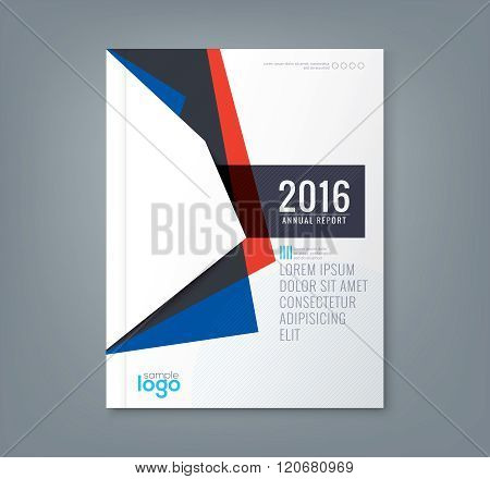 Abstract Minimal Geometric Shapes Design Background For Business Report Book Cover Brochure Flyer Po