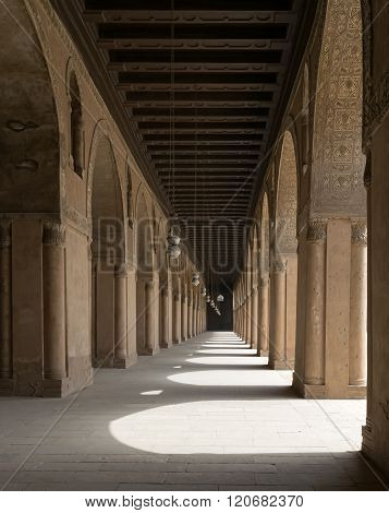 One Of The Passages Surrounding  The Courtyard Of The Mosque Of Ahmad Ibn Tulun