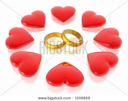 Corazones de amor &
