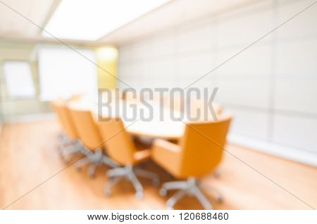 Blur Image Of Empty Boardroombackground