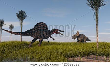 spinosaurus vs achelosaurus