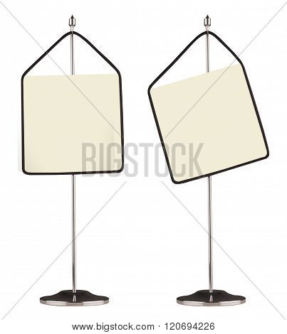 Two Table Display Standers