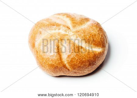 Top View Bread Roll, On White Background