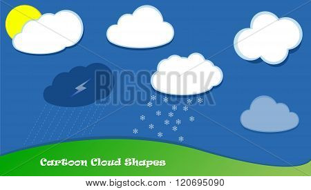 Cartoon Vector Clouds Shapes