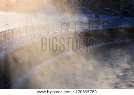 Water vapor illuminated by sunlight