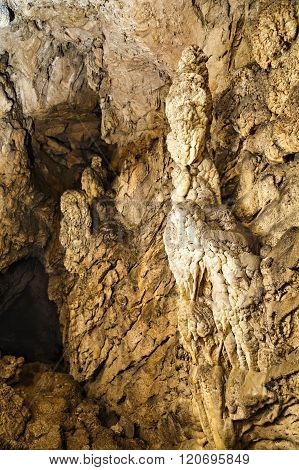 geological formation in cave
