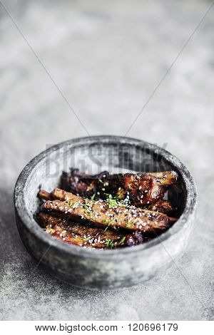 Asian Fusion Pork Ribs With Sweet Soy And Sesame