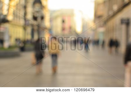 Passersby In The Street