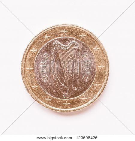 Irish 1 Euro Coin Vintage