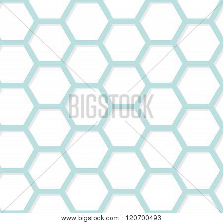 Modern Geometric Hexagonal Background. Vector Abstract Simple Pattern