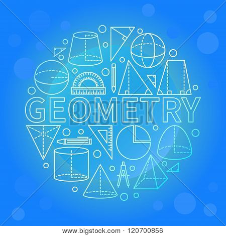 Blue geometry background