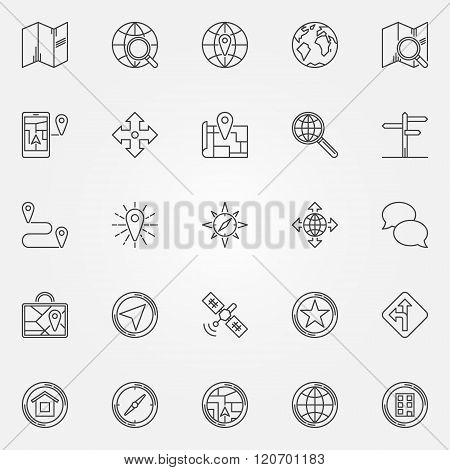 Navigation icons set