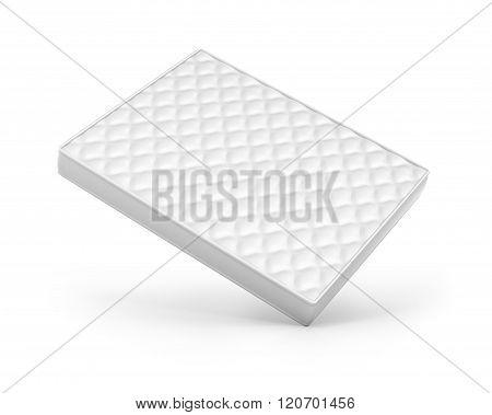 White Mattress Isolated On White Background.