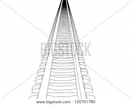 Railway vector illustration on white