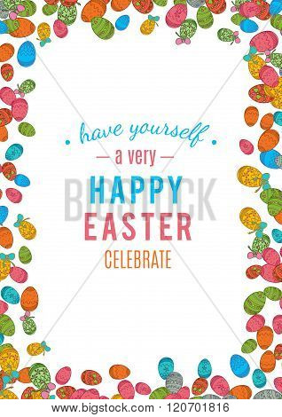 Colorful easter egg isolated on white background. Vector illustration