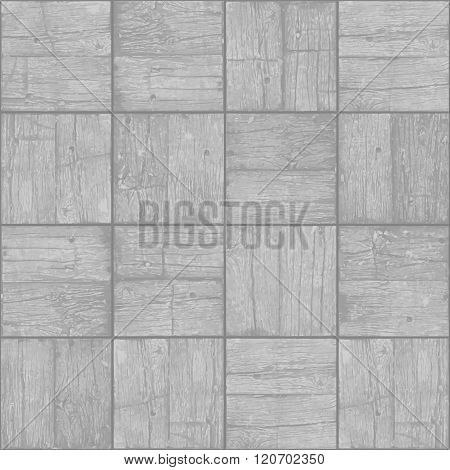 Old Parquet Floor Background - Vector Monochrome Grunge Element For Design