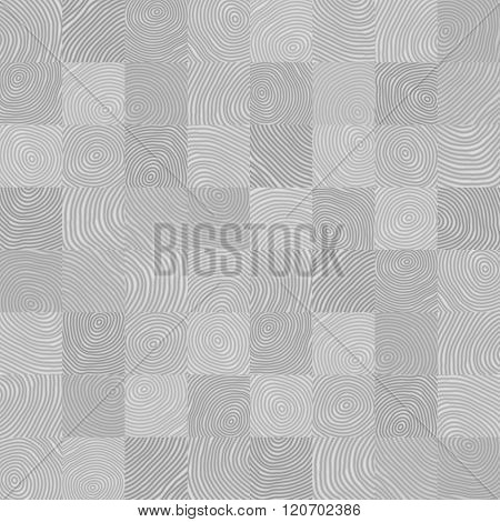 Vector Background - Gray Seamless Geometric Pattern From Uneven Elements