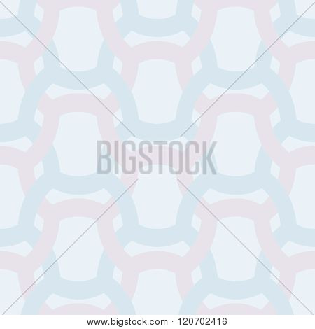 Abstract Simple Geometric Seamless Vector Pattern - Entwined Color Grides On Light Blue Background