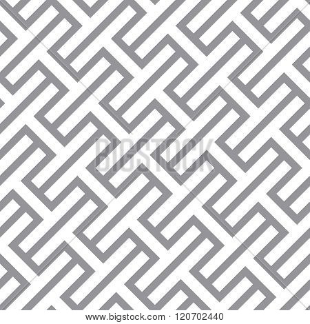 Simple Geometric Vector Seamless Monochrome Pattern - Gray Figures Design