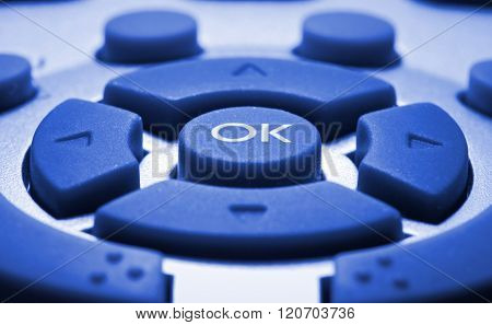 Remote Control Colorized In Blue