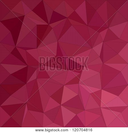 Maroon irregular triangle mosaic background design