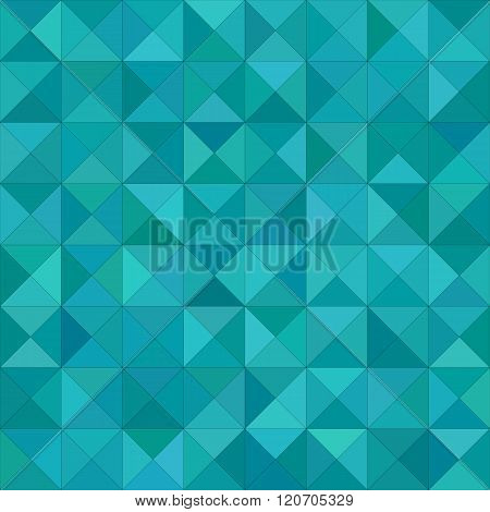 Teal triangle mosaic vector background