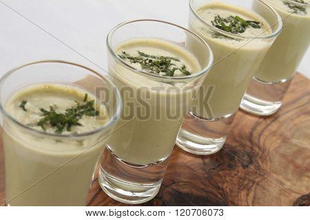 Image of canape finger food on beautiful background