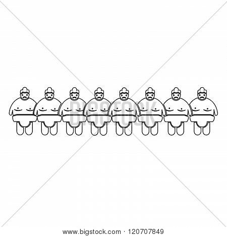 an images of Sumo wrestling People Icon Illustration design