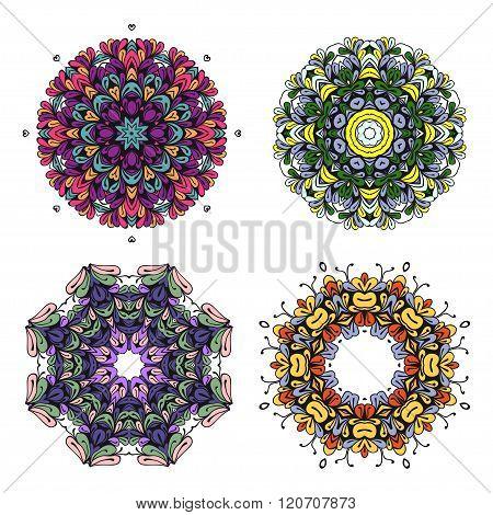Circle bright colorful ornament