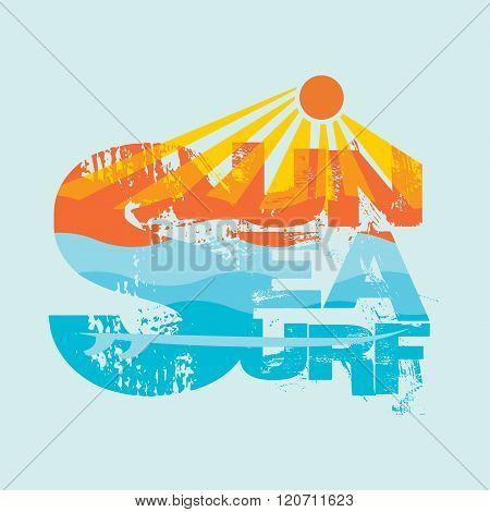 Surfing, Miami Beach, Florida, Surfing T-shirts, T-shirt Inscrip