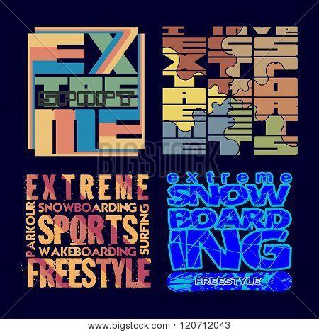 Set T-shirt Extreme Sports, Design, Fashion