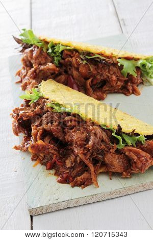 Image of pulled pork taco sandwiches wraps