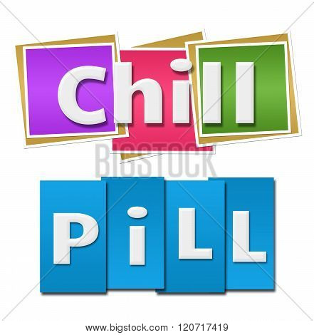 Chill Pill Colorful Squares Stripes