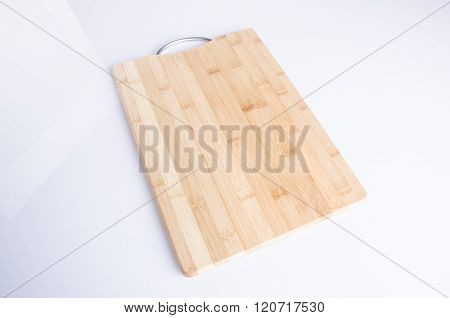 Cutting Board Or Wood Cutting Board On Background.