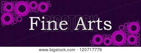 Fine Arts Purple Pink Rings Horizontal