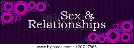 Sex And Relationships Purple Pink Rings Horizontal