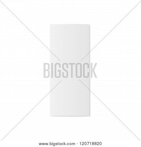 Blank folded realistic Brochure Mockup
