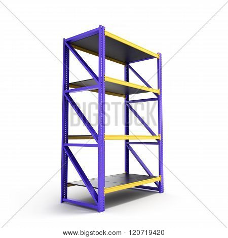 Single Pallet Rack, Isolated On White
