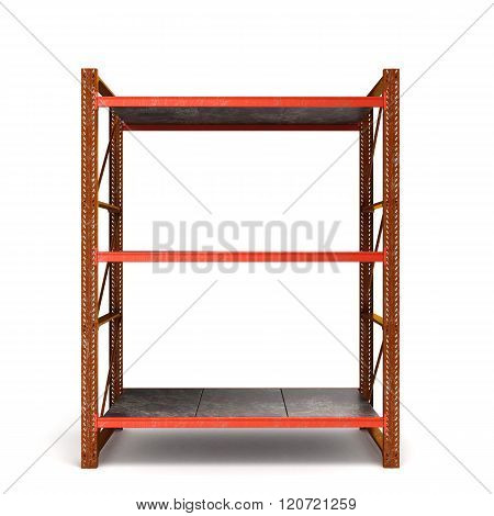 Old Rusty Rack Trays Isolated On White Background