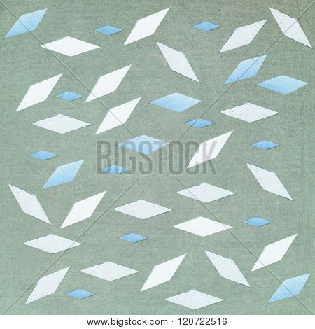 Rhombus Shape On Textured Background - Illustration - Pastel Tones - Abstract Graphic Design.