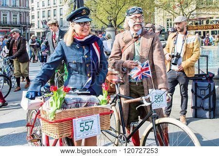 Happy Tweed Run Participants In Great Vintage Costumes