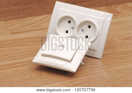 Beige light switch and outlet