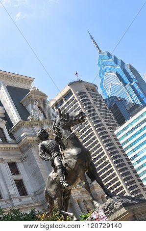 Equestrian monument in Philadelphia, Pennsylvania