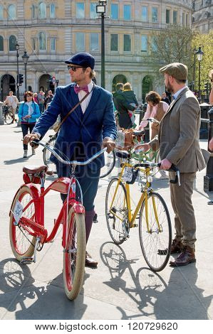 Young Man With Retro Bicycles