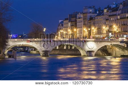 The Pont Saint Michel , Paris, France.