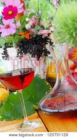 Red Wine In Garden
